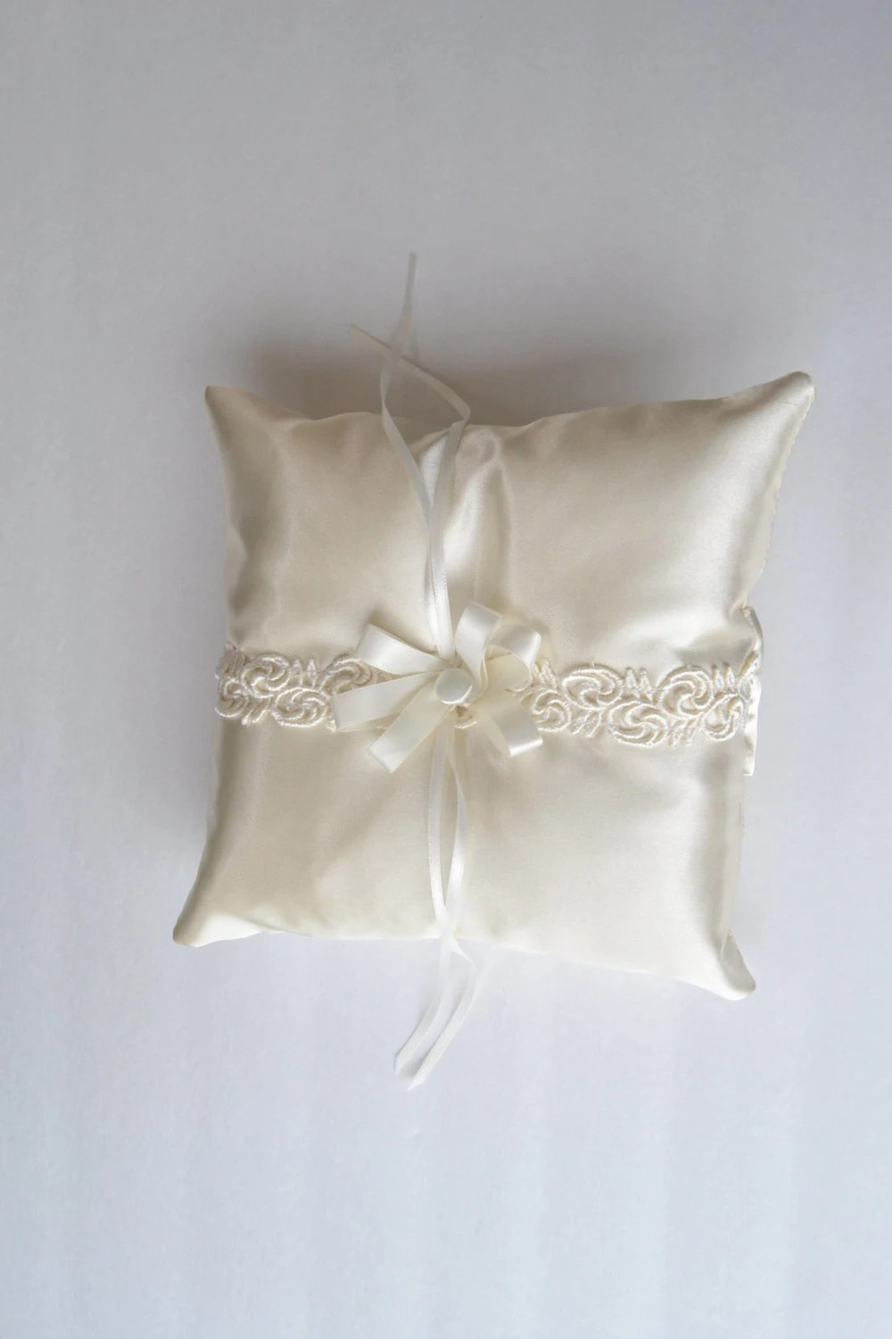 Ivory Satin Ring Bearer Pillow Wedding Accessory Ring
