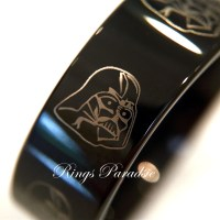 Star Wars Rings Darth Vader Star Wars Black Tungsten Engraved