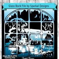 Christmas SVG File, Glass Block Designs, Retro Window ...