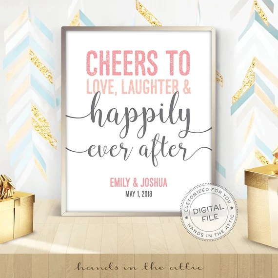 Download Cheers to love laughter & happily ever after by ...