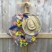 Cowboy Wreath Rodeo Wreath Western Decor Western Wreath