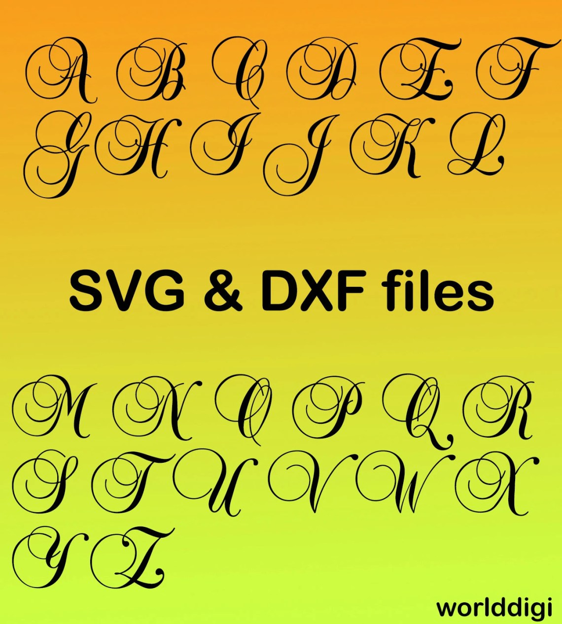 Download A-Z Letters Alphabet Font Cutting Files for Silhouette