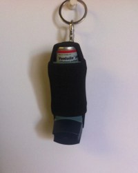 Inhaler holder Classic Black by ResQSac on Etsy