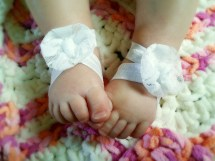 Baby Barefoot Sandals Baptism Shoes Christening