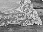 Delicate Vintage Wedding Hankie Handkerchief White Lace Hankie Brides Hankie Handkerchief Tambour Lace Bridal Hankies Something Old