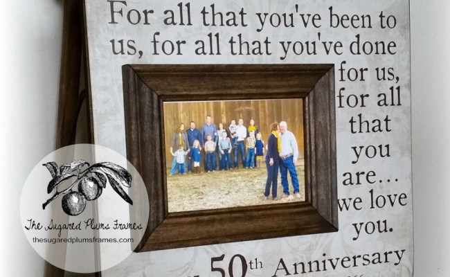 50 Anniversary Gifts Parents Anniversary Gift By