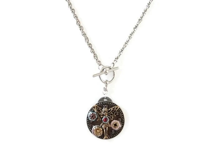 Steampunk Fairy Necklace Womens Steampunk Fairy Necklace