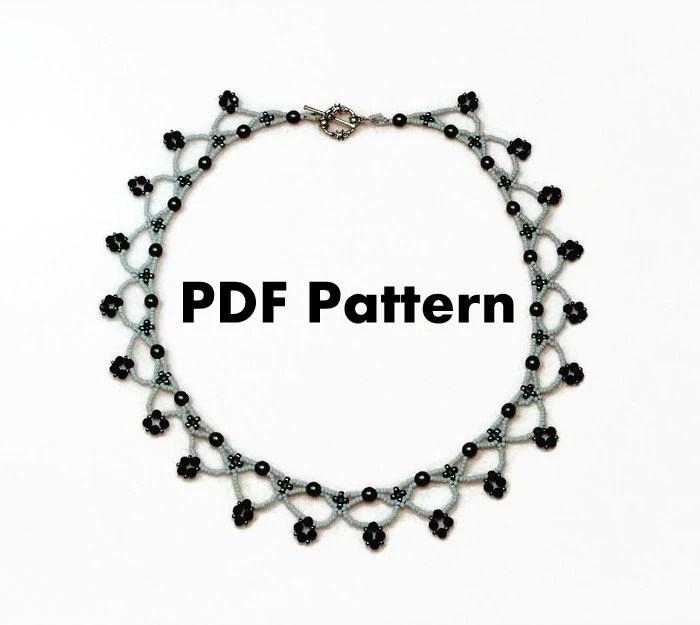 PDF-file Beading Pattern The Zianna Pendant by