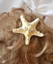 starfish hair clip mermaid