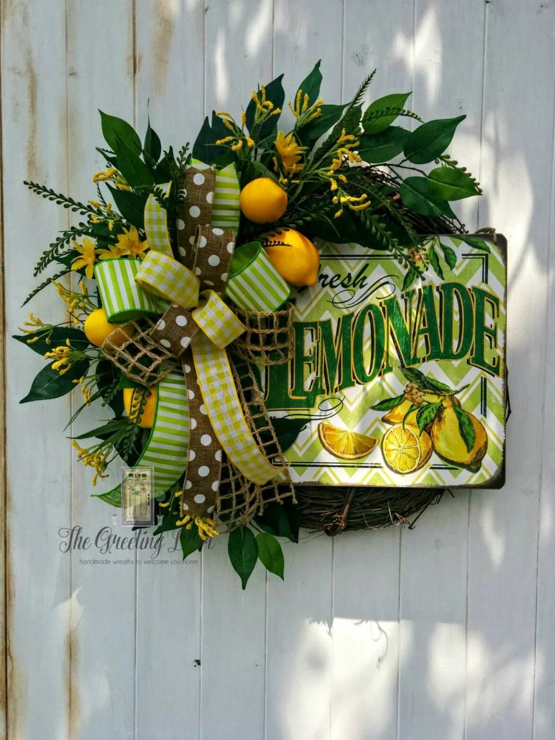 Lemon Wreath Kitchen Wreath Front Door Wreath by