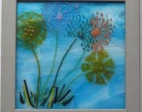 Popular items for fused glass wall art on Etsy