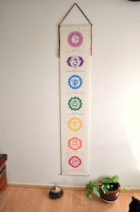Chakra banner chakra wall hanging chakras Chakra art