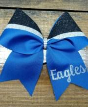 custom cheer bow with school team