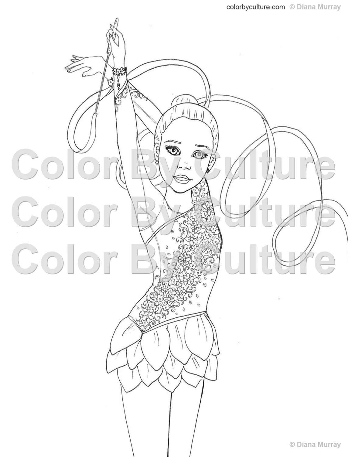 Gymnastics Coloring Book Fashion Coloring Book Printable