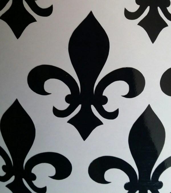 Fleur De Lys Removable Wallpaper. 25 Lis Stickers