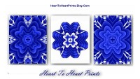 Bedroom Wall Decor Navy Royal Blue Floral Wall Art Cobalt Blue
