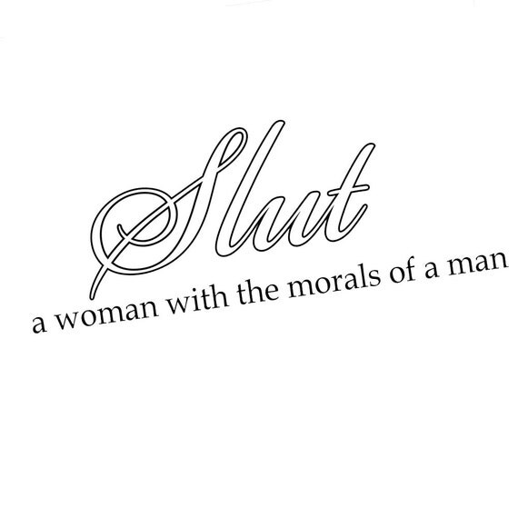 DECAL SERPENT Funny Slut Definition Morals 6 Vinyl Car