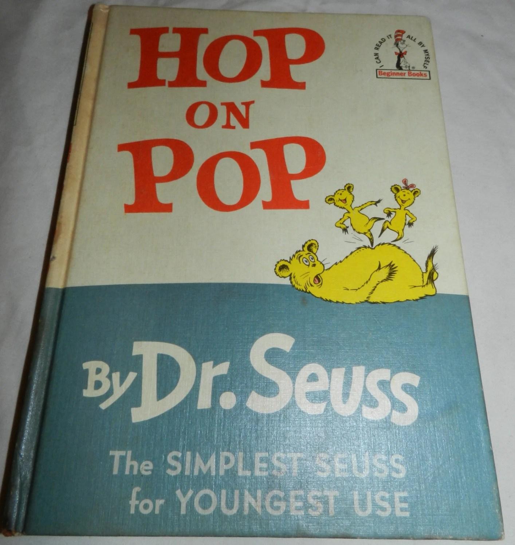 Hop On Pop Book Vintage Copyright By Dr Seuss