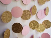 Gold and Light Pink Party Decoration Bridal Shower Decor