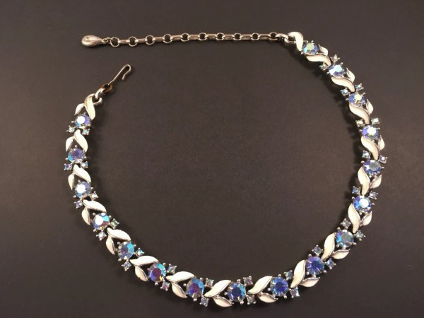 Rhinestone Choker Vintage Jewelry Lisner Necklace