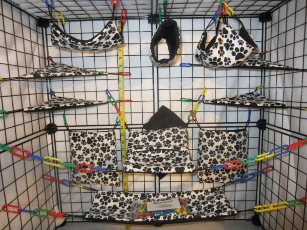 Pc Paw Prints Sugar Glider Cage Set