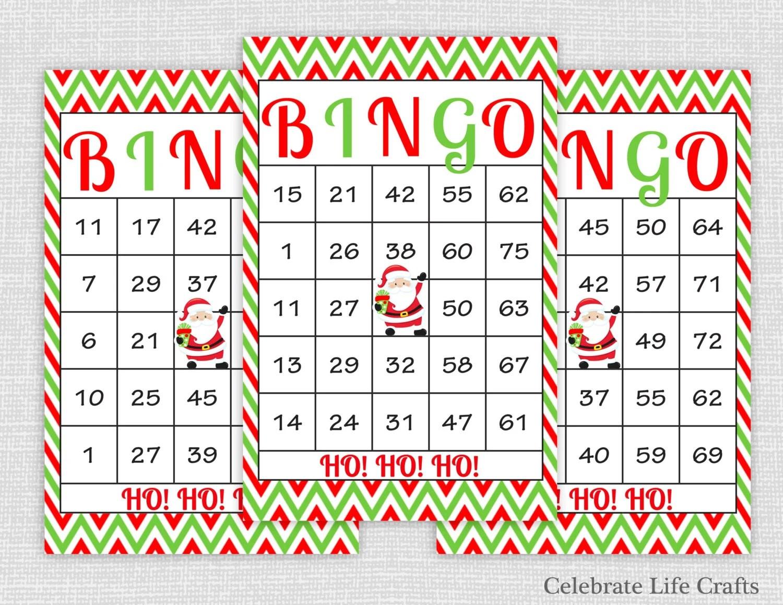 100 Christmas Bingo Cards Diy Printable By Celebratelifecrafts