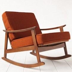 Mid Century Rocker Chair Double Seat Folding Rocking Lounge