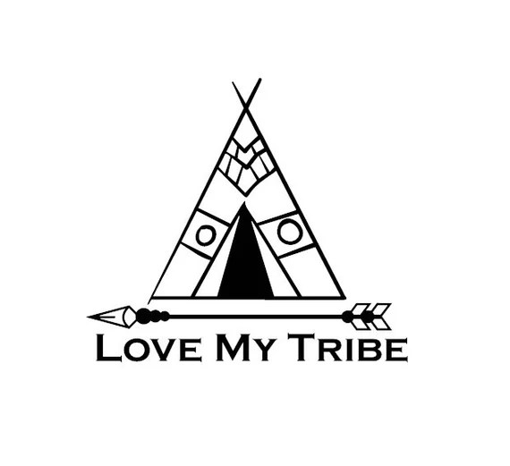 Download Love My Tribe Vinyl Decal Sticker from TheVinylSweatshop ...