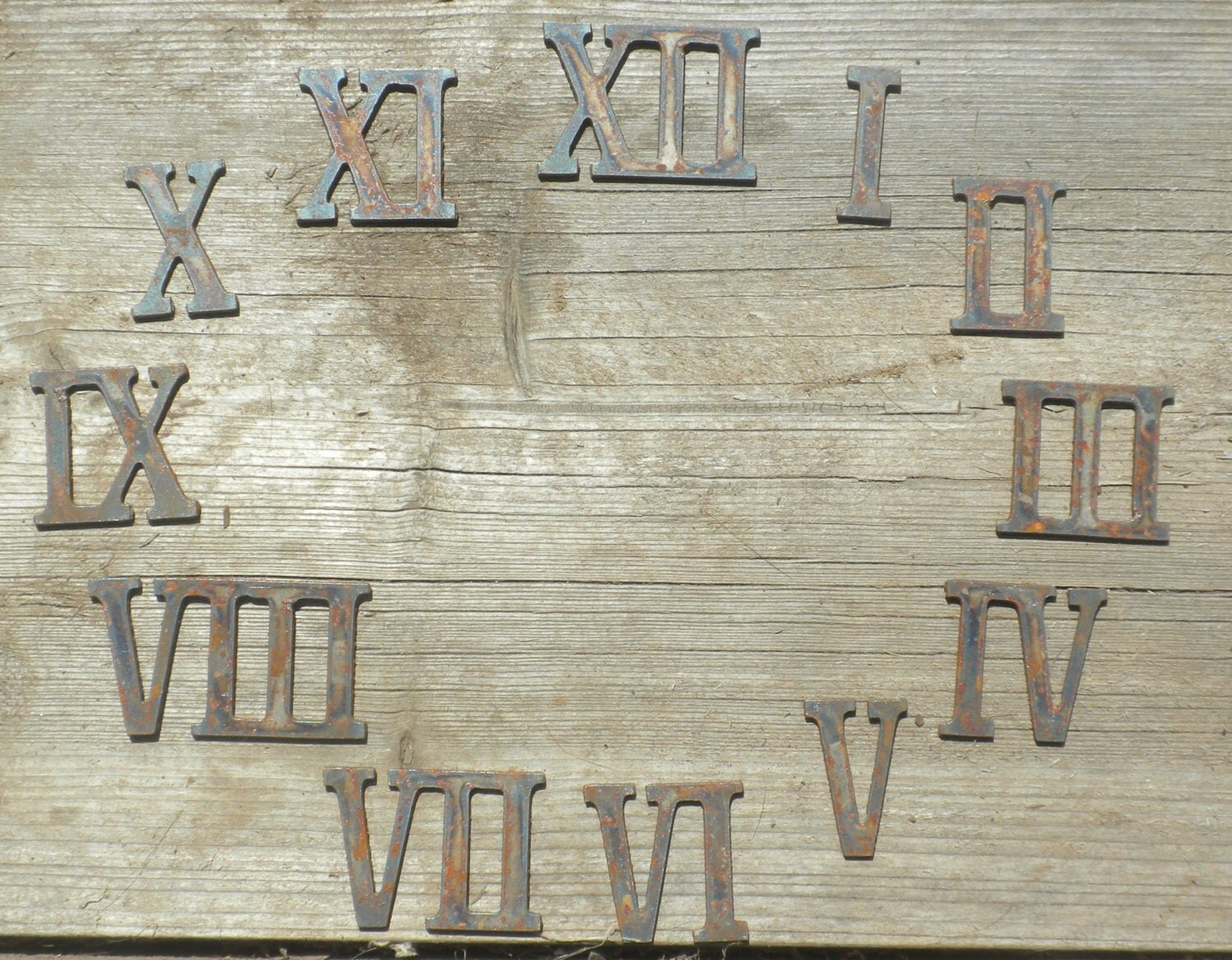 12 Inch Roman Numerals Numbers Giant Clock Set 1 12 Rusty