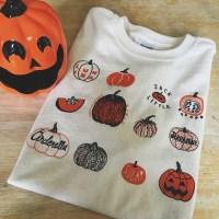 Pumpkin T-Shirt Halloween Shirt Screen print shirt Foodie