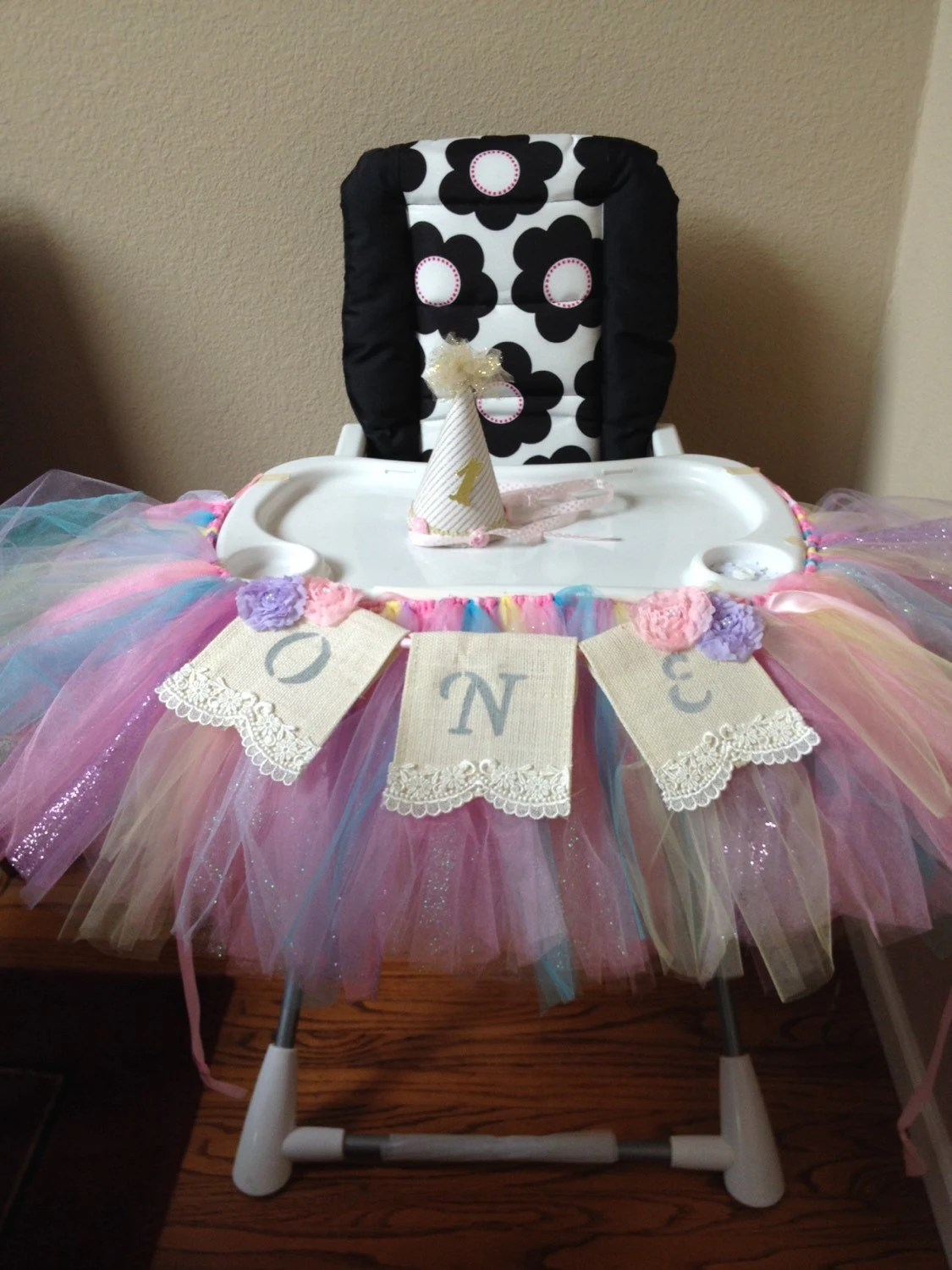 high chair tutu ergonomic geelong baby 39s first birthday and one banner