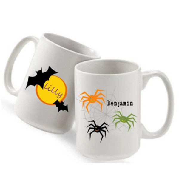 Items similar to Personalized coffee mugs halloween
