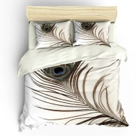 SALE Peacock Feather Bedding Set King Duvet Cover & Pillow