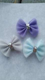 mini tulle hair bow set