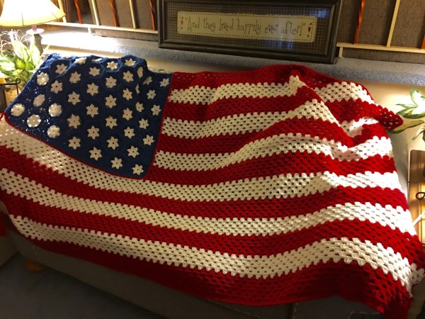 Order American Flag Inspired Crochet Blanket 46 6
