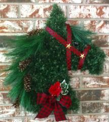 Door Hanger Kentucky Derby Jockey Silk Horse Head Wreath Imgmeta