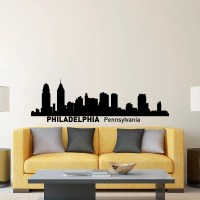 Philadelphia Skyline Wall Decal City Silhouette Philadelphia