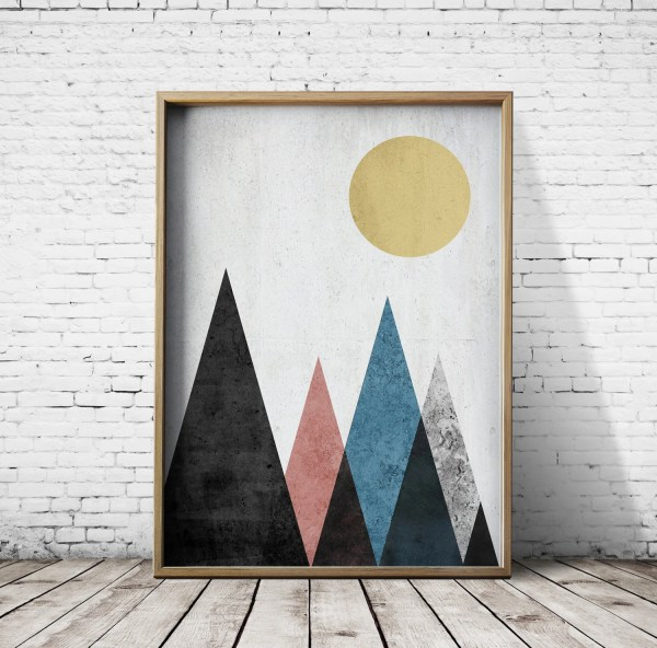 Printable Poster Digital Print Geometric Art