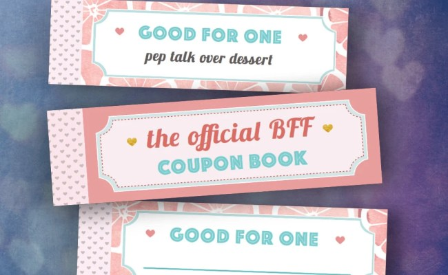 Best Friends Gifts Diy Coupon Book Single By