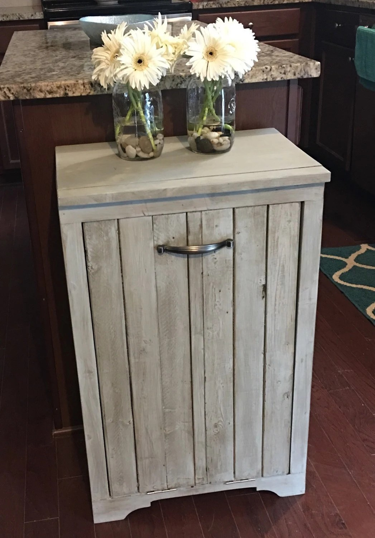 Wooden Trash Bin  Tilt Out  Gift  Housewarming Gift