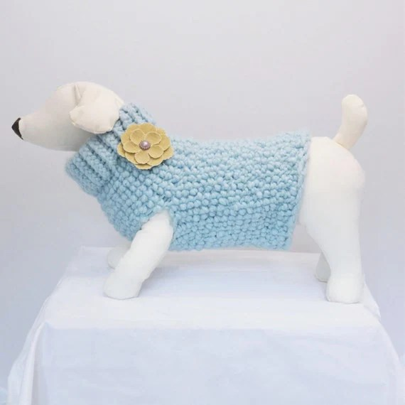 Glacier Dog Sweater Dog clothes Fancy by RemiStyleDogApparel