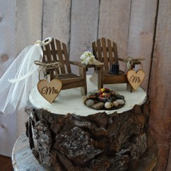 Mr And Mrs Chair Signs Outdoor Aluminum Chairs Country Adirondack Wedding Cake Topper Camping Fishing