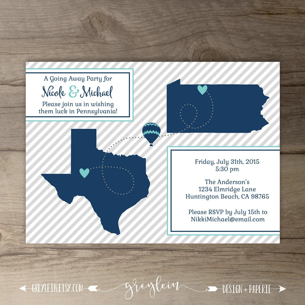 Going Away Party Invitations  Invites  Moving Announcements