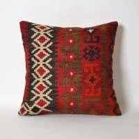 Red Kilim Pillow Cover Antique Turkish Pillows Kilim
