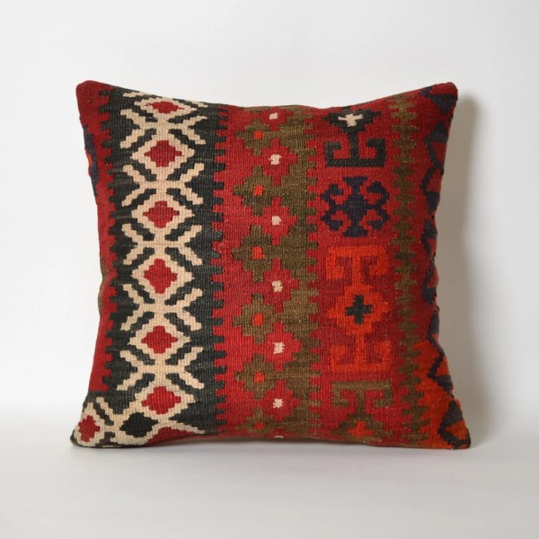 Red Kilim Pillow Cover Antique Turkish Pillows