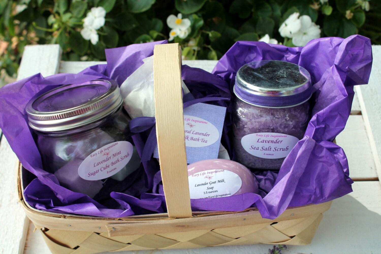 Lavender Bath And Beauty Gift Basket-Spa Gift Set-Spa Gift