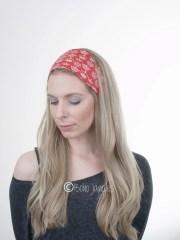 red brit british hair wrap cotton
