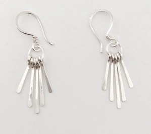 Fringe Earrings. Silver fringe earrings. Solid siver dangle earrings.