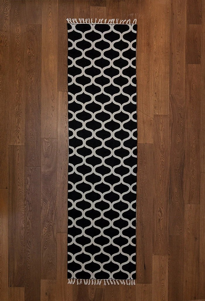 Hallway rugs rug runner black and white area by Carpetism