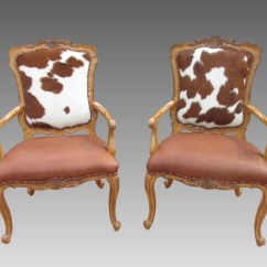 Hair On Hide Chair Modern High Chairs Australia Cowhide Accent Fire Side Pair Carved